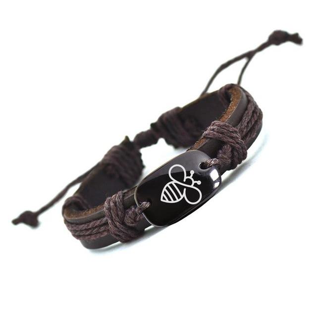 Bee Leather Bracelet