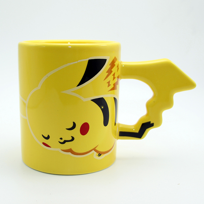 7facd1eae8d Pikachu yellow Mug with Tail handle (pokemon) - Ongda Trends