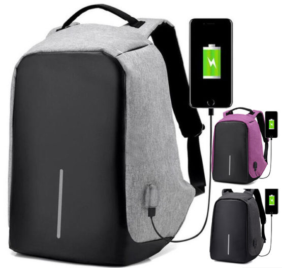Anti-Theft travel Backpack Laptop bag with USB charger (11)