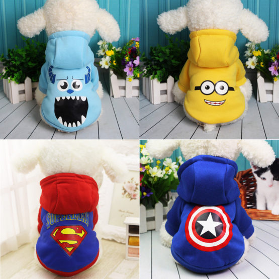 Pet Dog Sweater Superman Minions Captain America