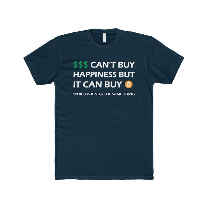 Money Can't Buy Happiness But it Can Buy Bitcoin dark Men's T-Shirt