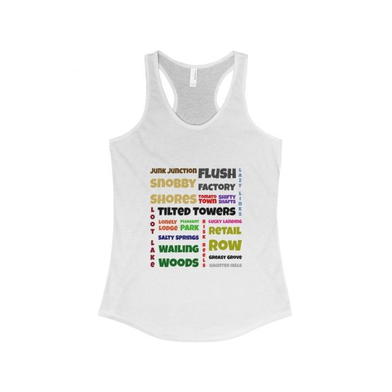 Fortnite Battle Royale name locations Women's Tank Top