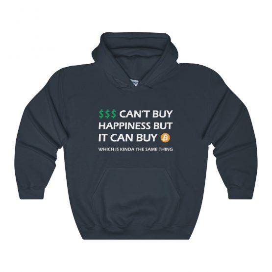 Money Can't Buy Happiness But it Can Buy Bitcoin dark Unisex Hooded Sweatshirt