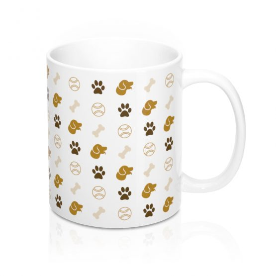 pet dog pattern coffee mug