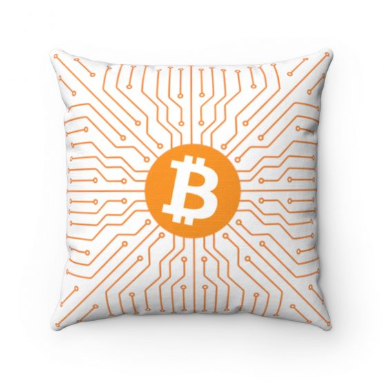 Bitcoin Square Pillow