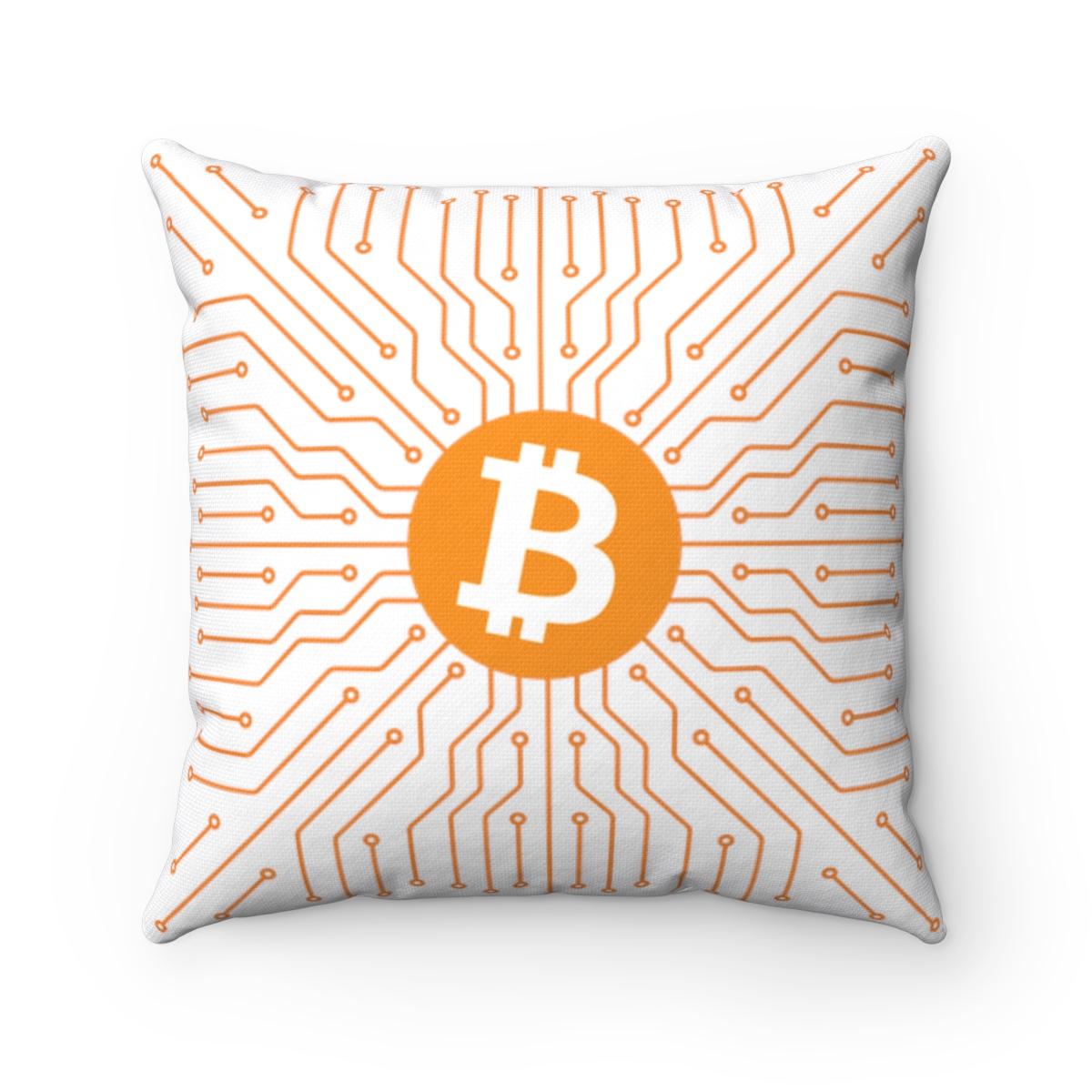 Bitcoin Square Pillow