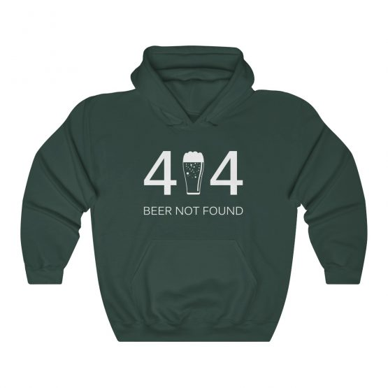 Error 404 Beer Not Found Unisex Hooded Sweatshirt