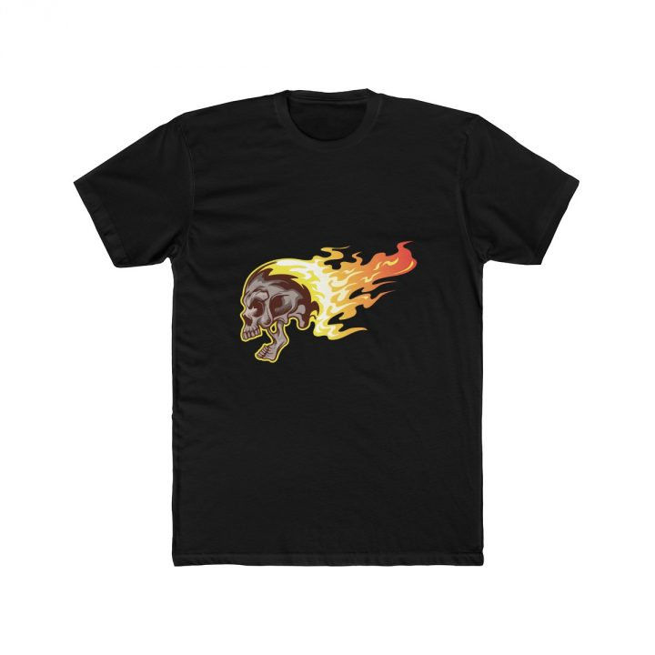 Men's T-Shirt Flaming Skull