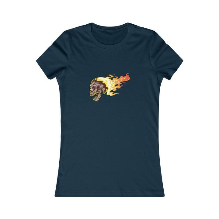 Women's T-Shirt Flaming Skull