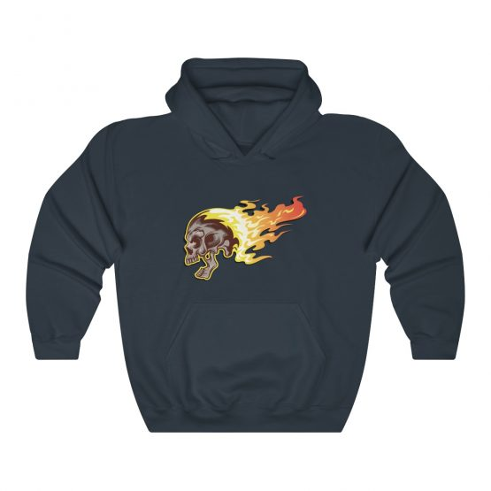 Unisex Hooded Sweatshirt Flaming Skull