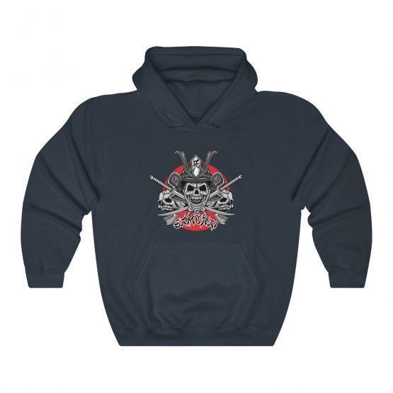 Unisex Hooded Sweatshirt Samurai Skull