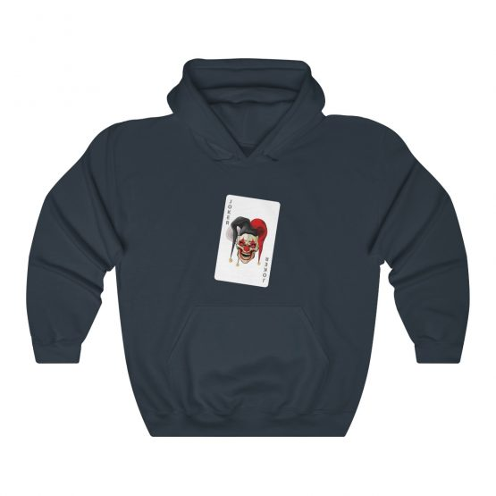 Unisex Hooded Sweatshirt Evil Joker card