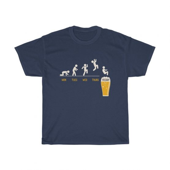Unisex Tee Man Jump Into A Glass Of Beer