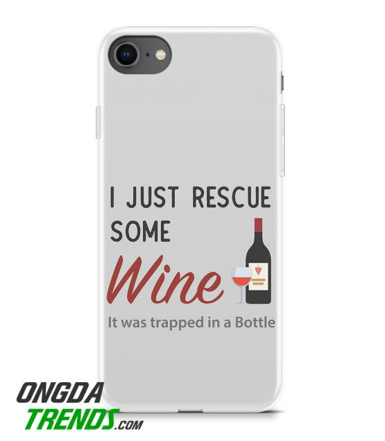 phone case i just rescue some wine